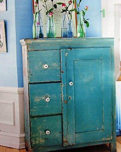 Roperos vintage buscar con google decoracion for Pintura cocina pato azul