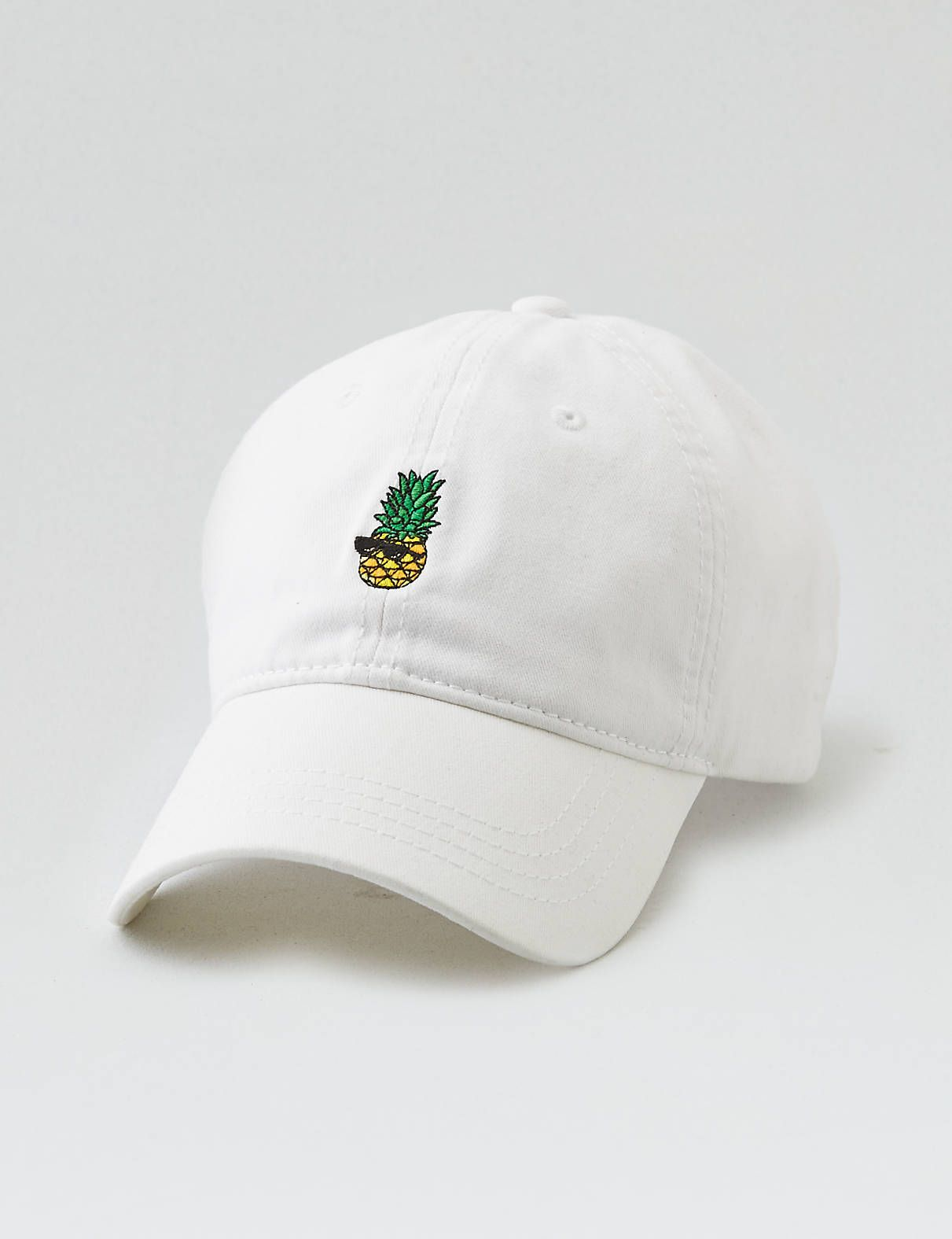 aeo embroidered dad hat    sunglasses pineapple