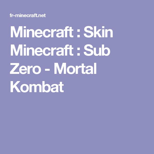 minecraft skin minecraft sub zero mortal kombat skins de