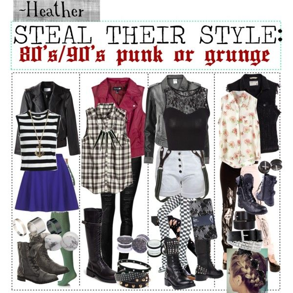 80s90s punk or grunge by the first outfit with the