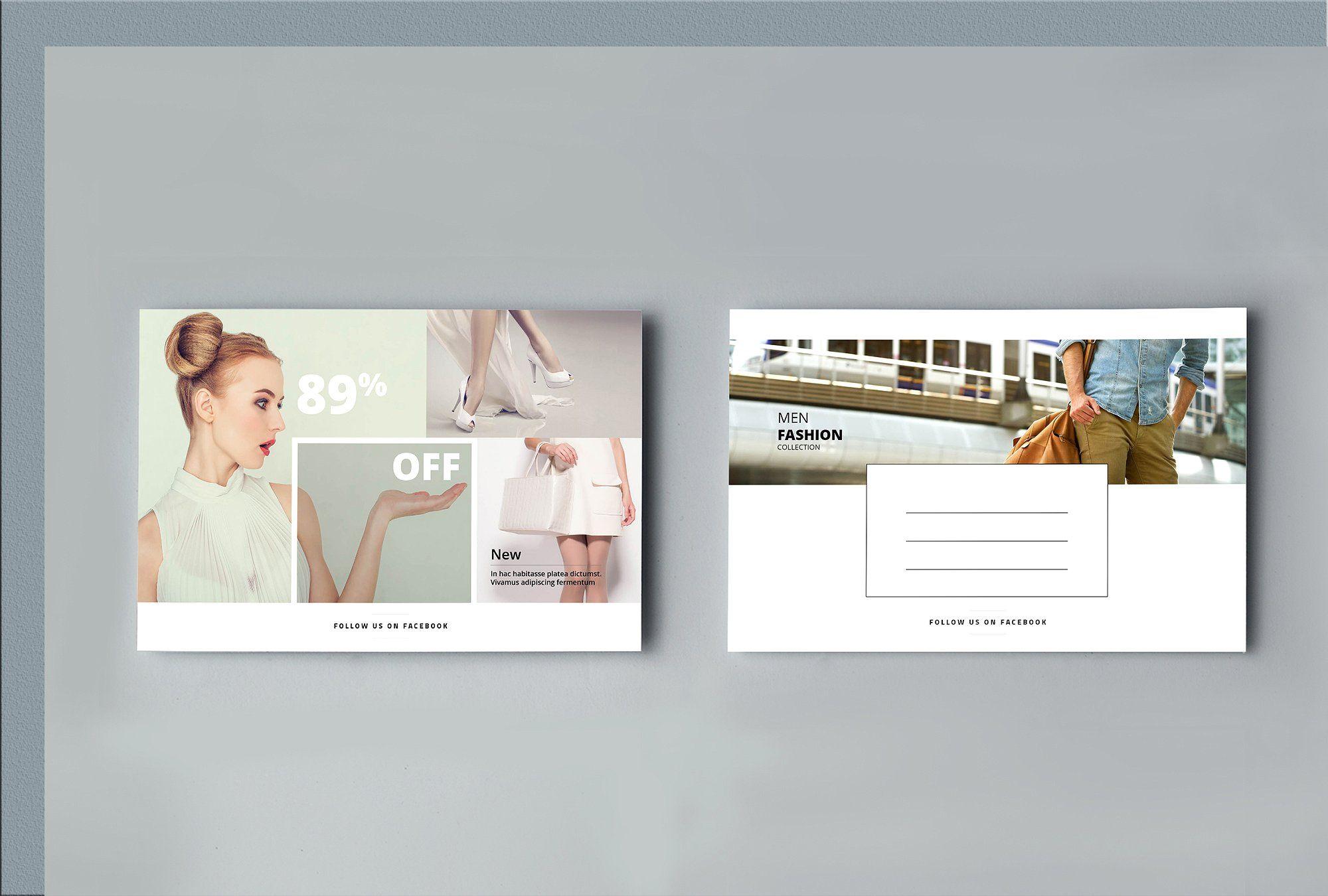 Fashion Postcard With Images Postcard Fashion Graphic Design
