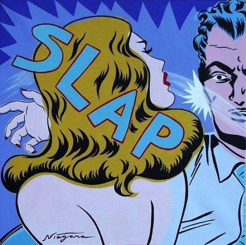 SLAP Take that! Niagara Detroit pop art.
