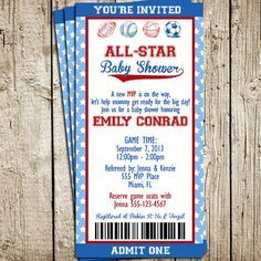 Wonderful Baby Shower: Sport Themed Baby Shower Invitations To Make Your Chic Baby  Showeru2026