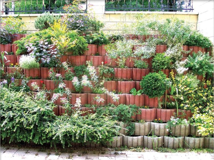 pflanzringe setzen im garten auf der terrasse oder als. Black Bedroom Furniture Sets. Home Design Ideas