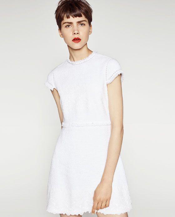 Vestidos blanco mujer zara