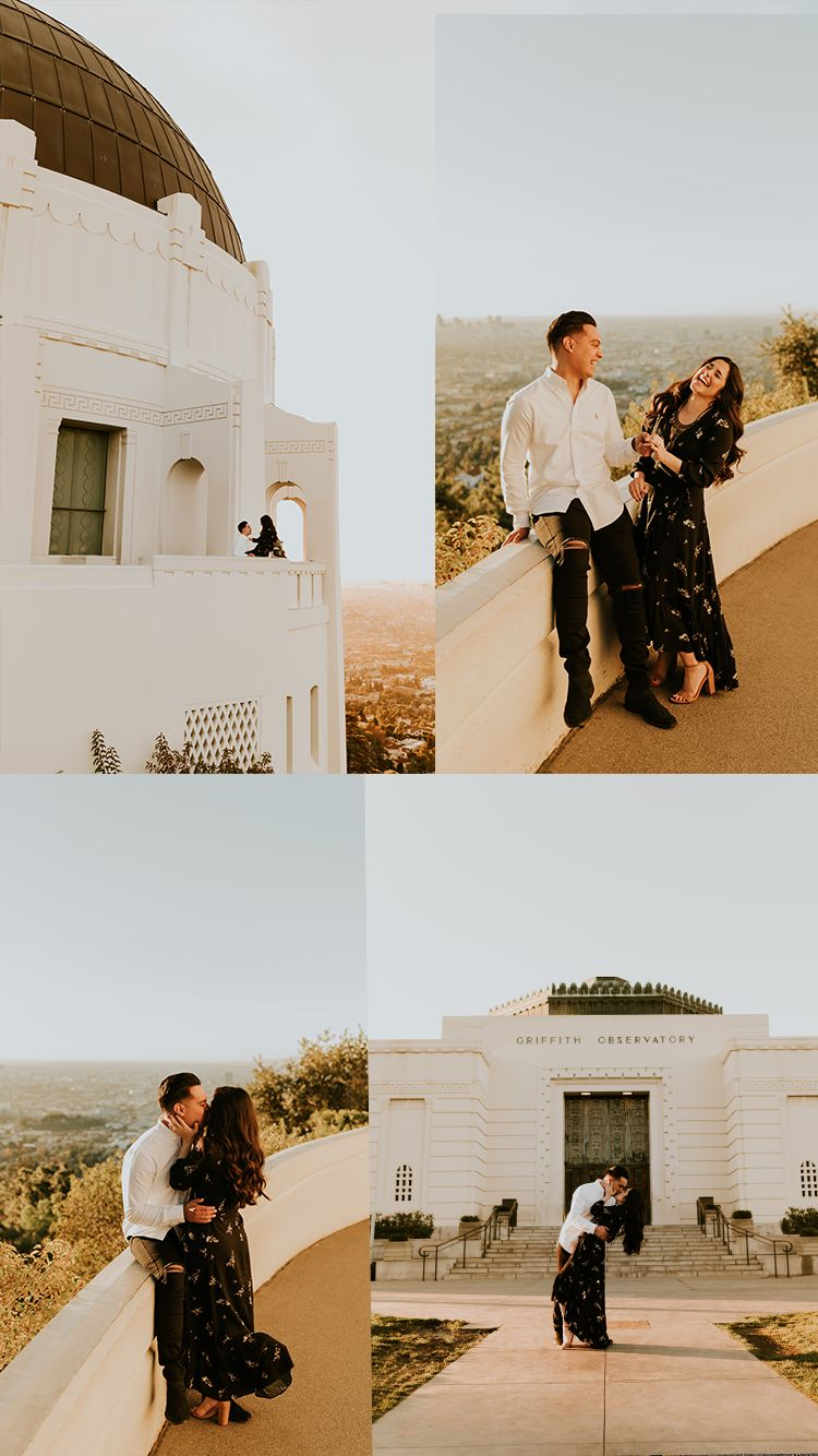 Griffith Observatory Sunrise Engagement Session Los Angeles Engagement Photos California Engagement Photos Griffith Observatory Engagement Photos