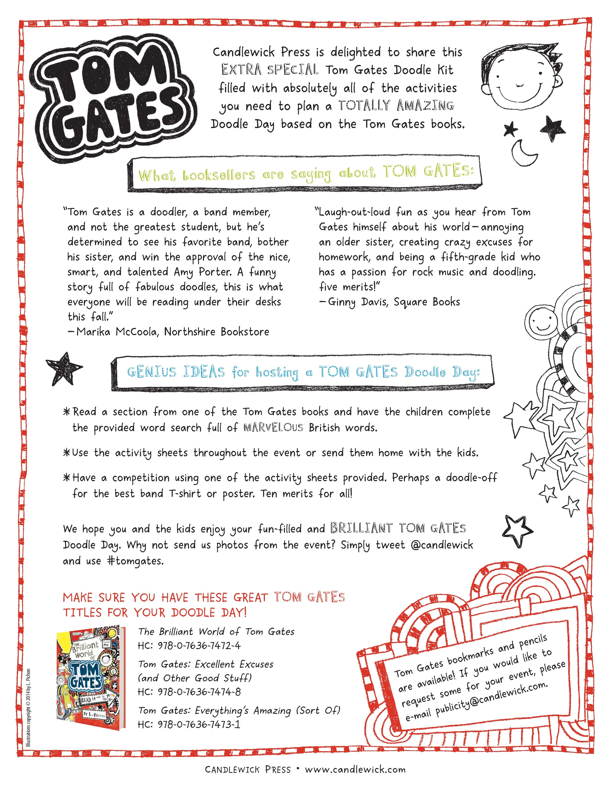 This Tom Gates Doodle Kit Is Filled With Doodling