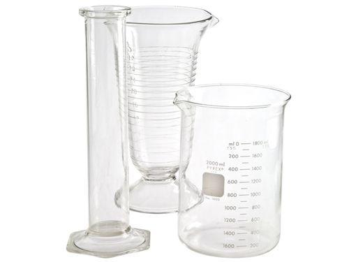 Set Of Three Vintage Lab Glass Flasks 3 My Home Glass Flask