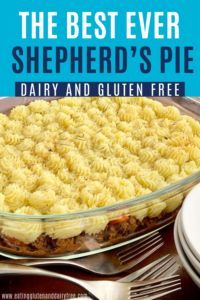 Gluten and Dairy Free Shepherd's Pie - This quick and easy dinner idea is the perfect thing to add to your meal plan for busy weeknights. This simple allergy friendly dinner idea is full of flavor that the whole family will love. This Shepherd's Pie recipe is dairy free, gluten free and kid approved! add it to your meal list and you'll be set. #dairyfree #glutenfree #allergyfriendly #quickdinner #fastdinner #kidfriendlydinner