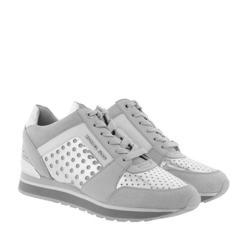 Michael Kors Michael Kors Sneakers – Billie Trainer Aluminium/Silver – in  silber, grau