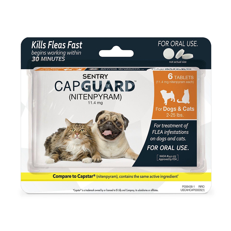 Sentry Capguard Flea Tablets For Dogs 2 To 25 Lbs Fleas Cat Fleas Cat Flea Remedy