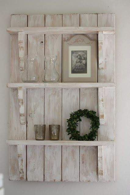 Estanterías decorativas de pared hechas con palets   Pinterest ...