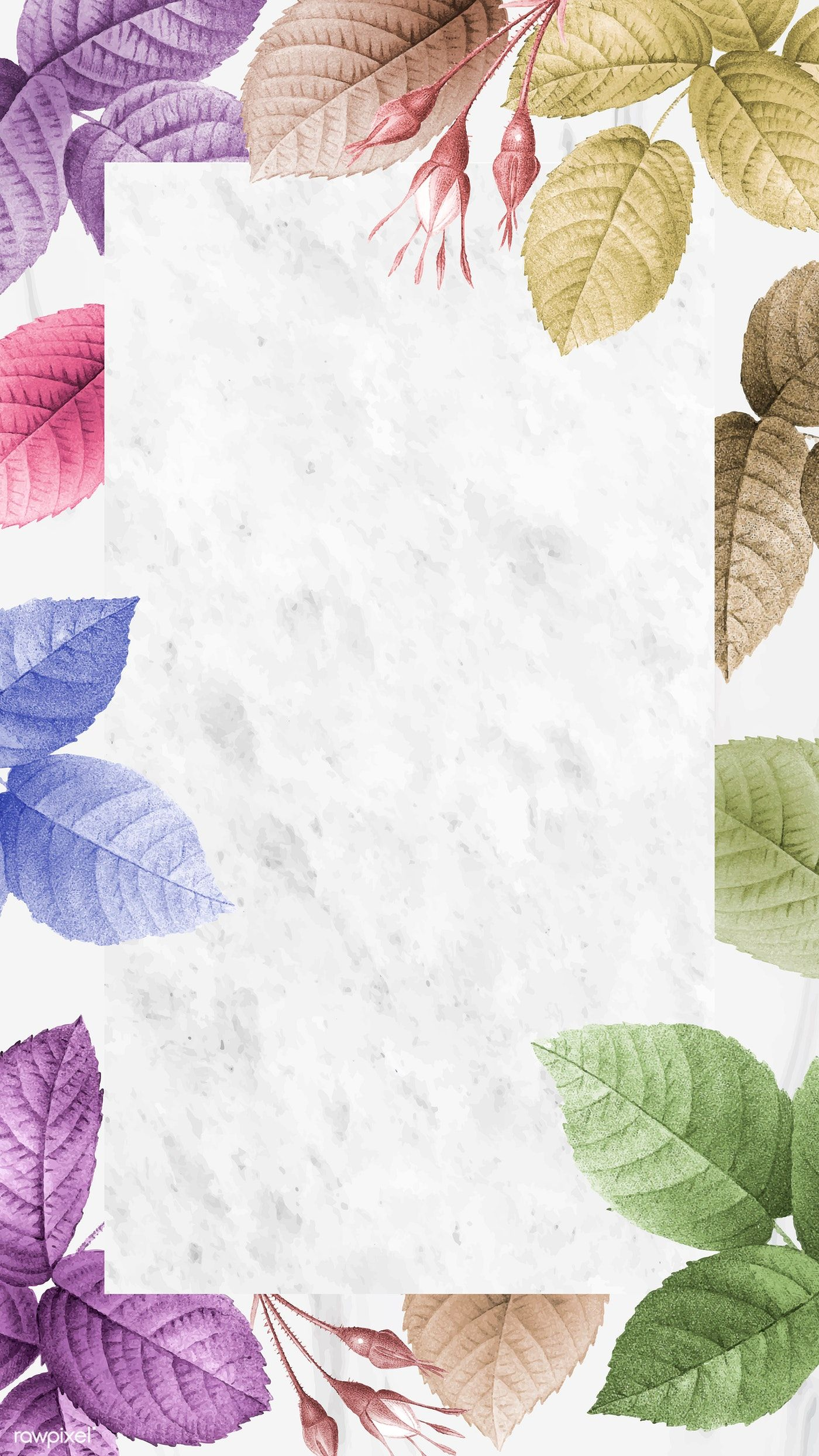 Download premium vector of Colorful foliage pattern mobile