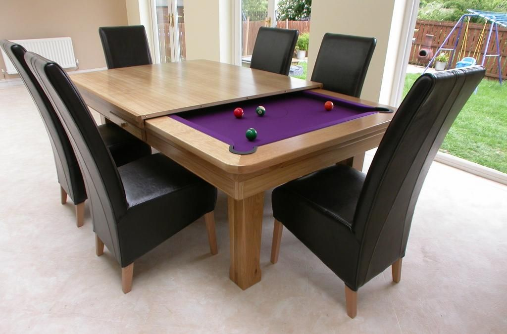 Pool Table Dining Table For Unique Concept Dining Room Furniture