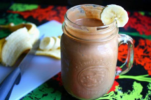 Peanut butter, banana, cocoa powder, coconut milk or yogurt.