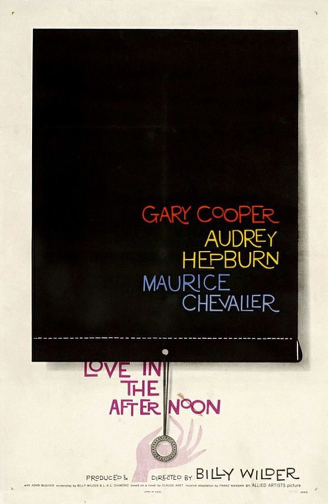 Love in the Afternoon movie poster / Design Saul Bass