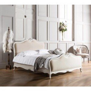 Chalk Linen Upholstered Bed - French Bedroom Company | Bedrooms ...
