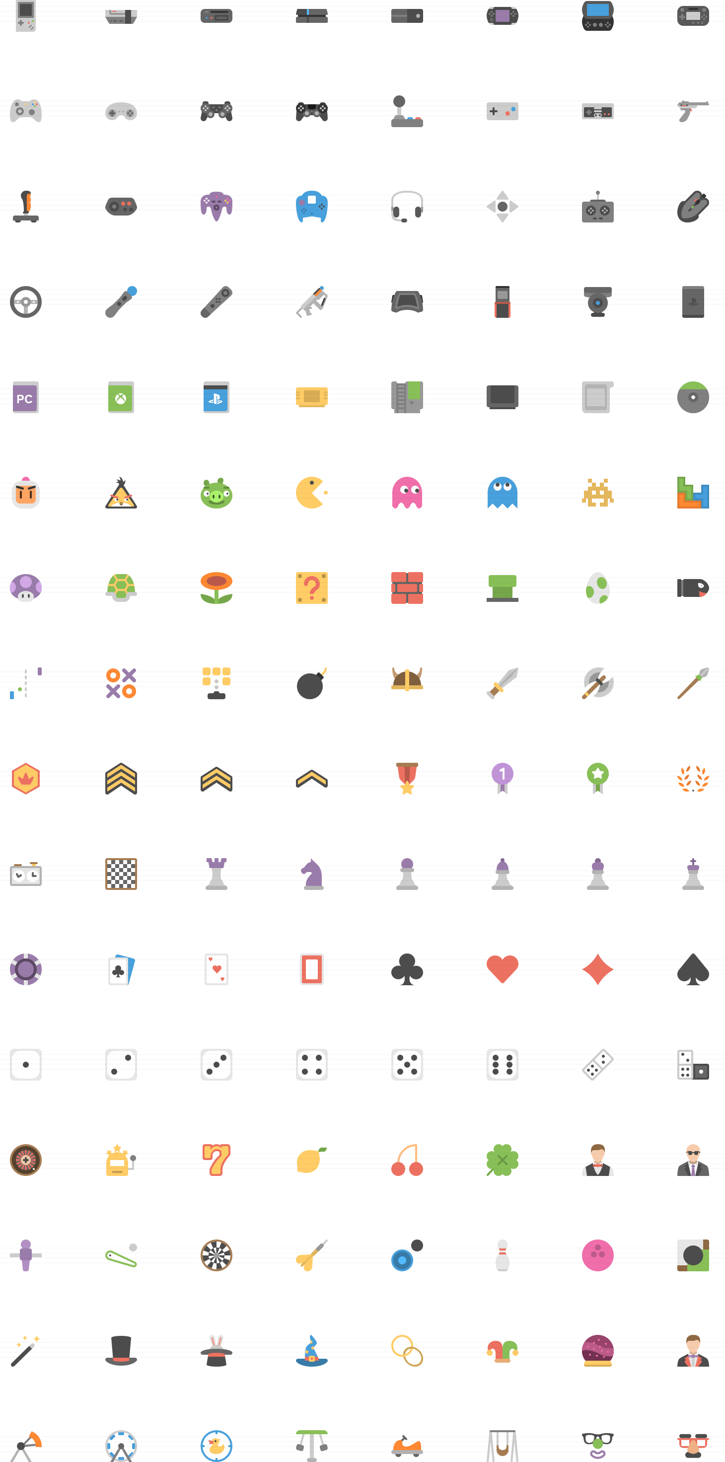 Gaming and entertainment flat icons icons pinterest icons handcrafted flat icons line icons glyph icons designed for applications ios and android include photoshop illustrator and svg files biocorpaavc