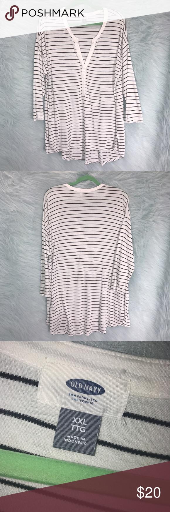 Black t shirt old navy - Old Navy Striped Long Sleeve V Neck T Shirt Old Navy Plus Size