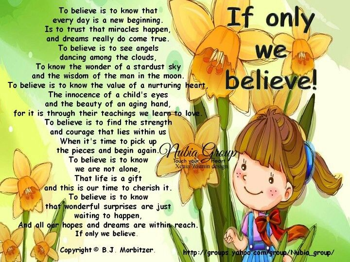 If Only We BELIEVE