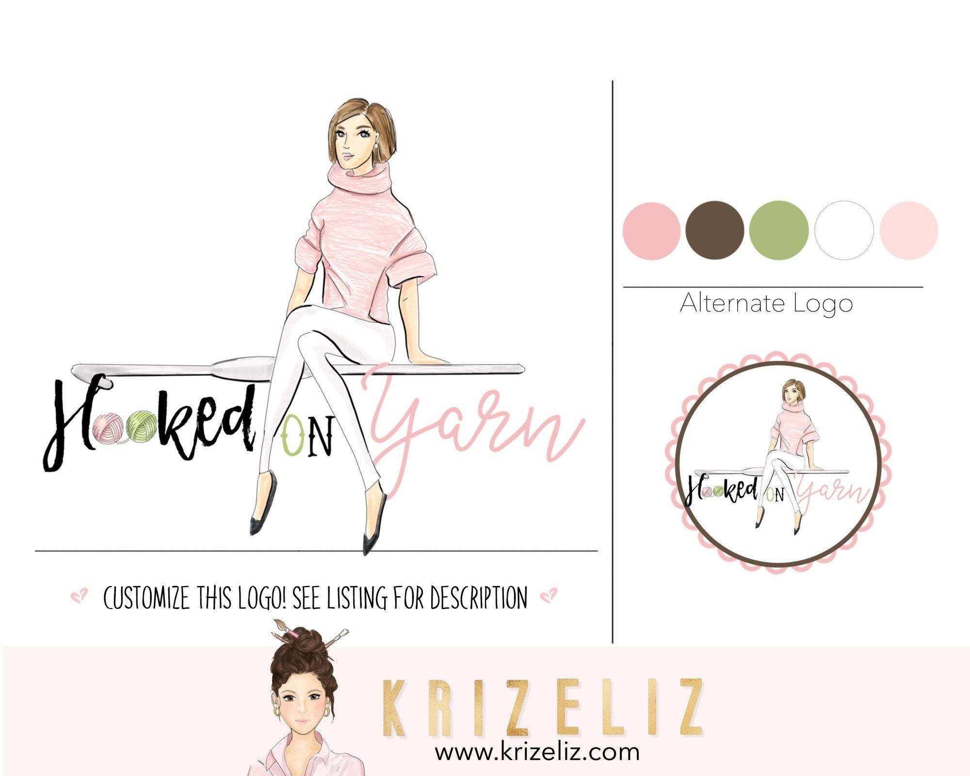 Shop Kriz Eliz Logo Design Color Palette Logo Design Premade Logo Design