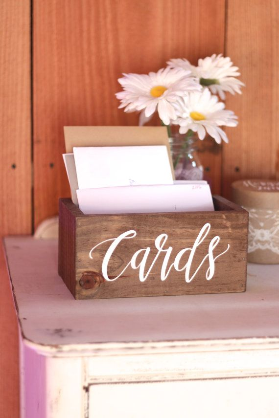 Hand Crafted Wedding Card Box With Beautiful Painted Calligraphy Dimensions 8x4x4 If You
