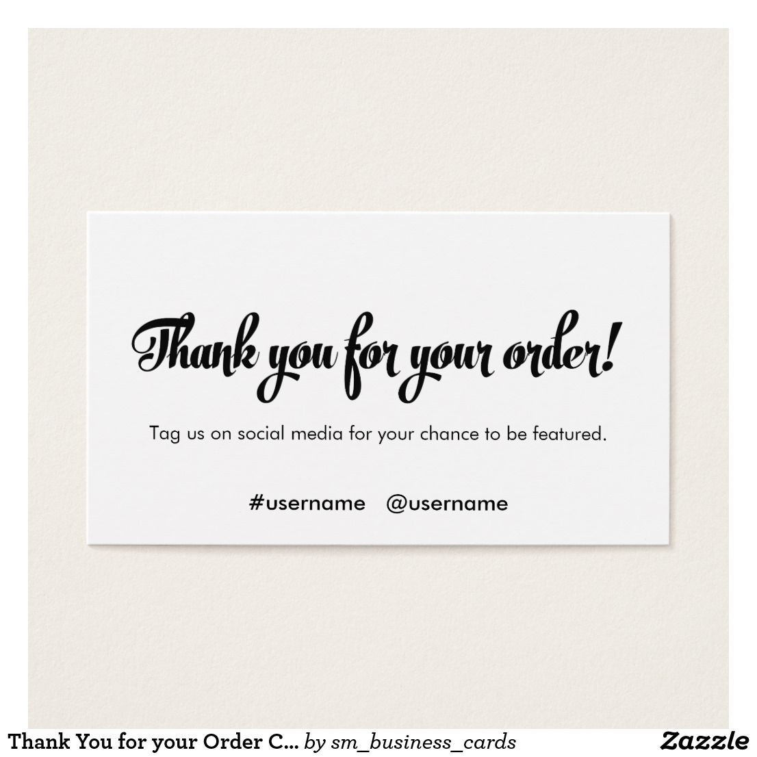 Thank You For Your Order Customer Loyalty Zazzle Com With