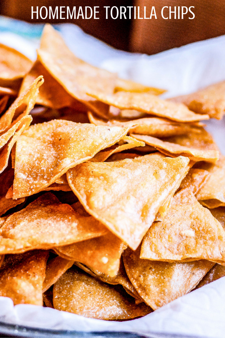 Crunchy, salty Homemade Tortilla Chips are way better than store bought, and perfect for scooping up salsa or queso!