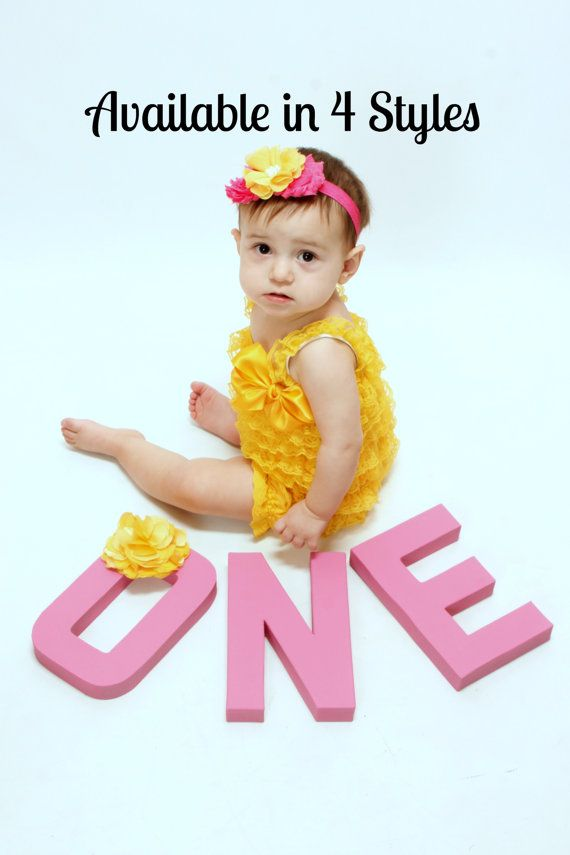6b9c3b9430df Yellow Romper Cake Smash Outfit Girls Baby Girl by YourFinalTouch Baby Girl  1st Birthday