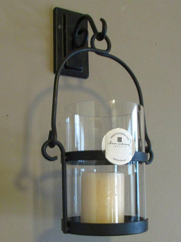 Home Interiors Wrought Iron Wall Sconce Candle Holder 12892 Rustic ...