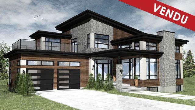 Maison vendre contemporaine qu bec recherche google for Devanture maison design