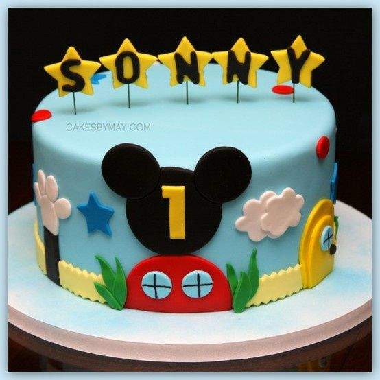 Mickey Mouse Clubhouse birthday - kayla would love this in pink!