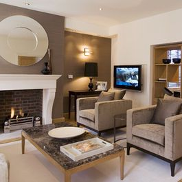 Accent Wall Living Room Design Ideas Pictures Remodel And Decor Accent Walls In Living Room Dining Room Accents Brown Accent Wall