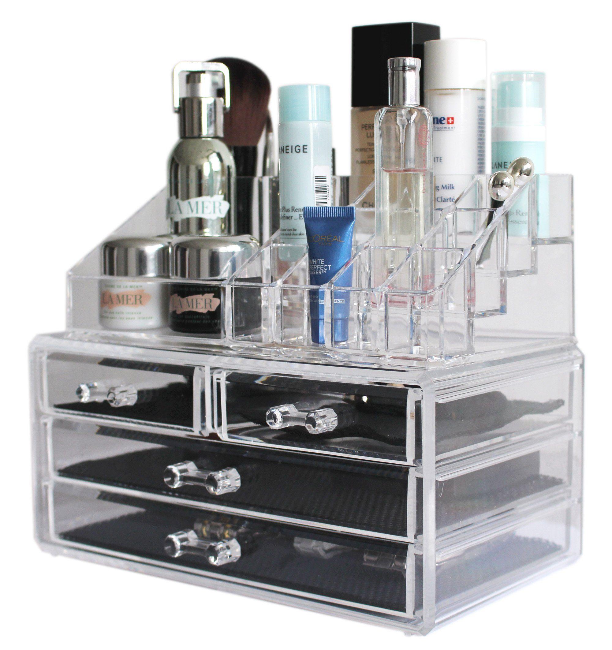 Amazoncom Sodynee Acrylic Makeup organizer Cosmetic organizer