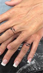 Photo of 60 romantic ring finger tattoo ideas – lil arrow wedding rings #ring finger tattoo …