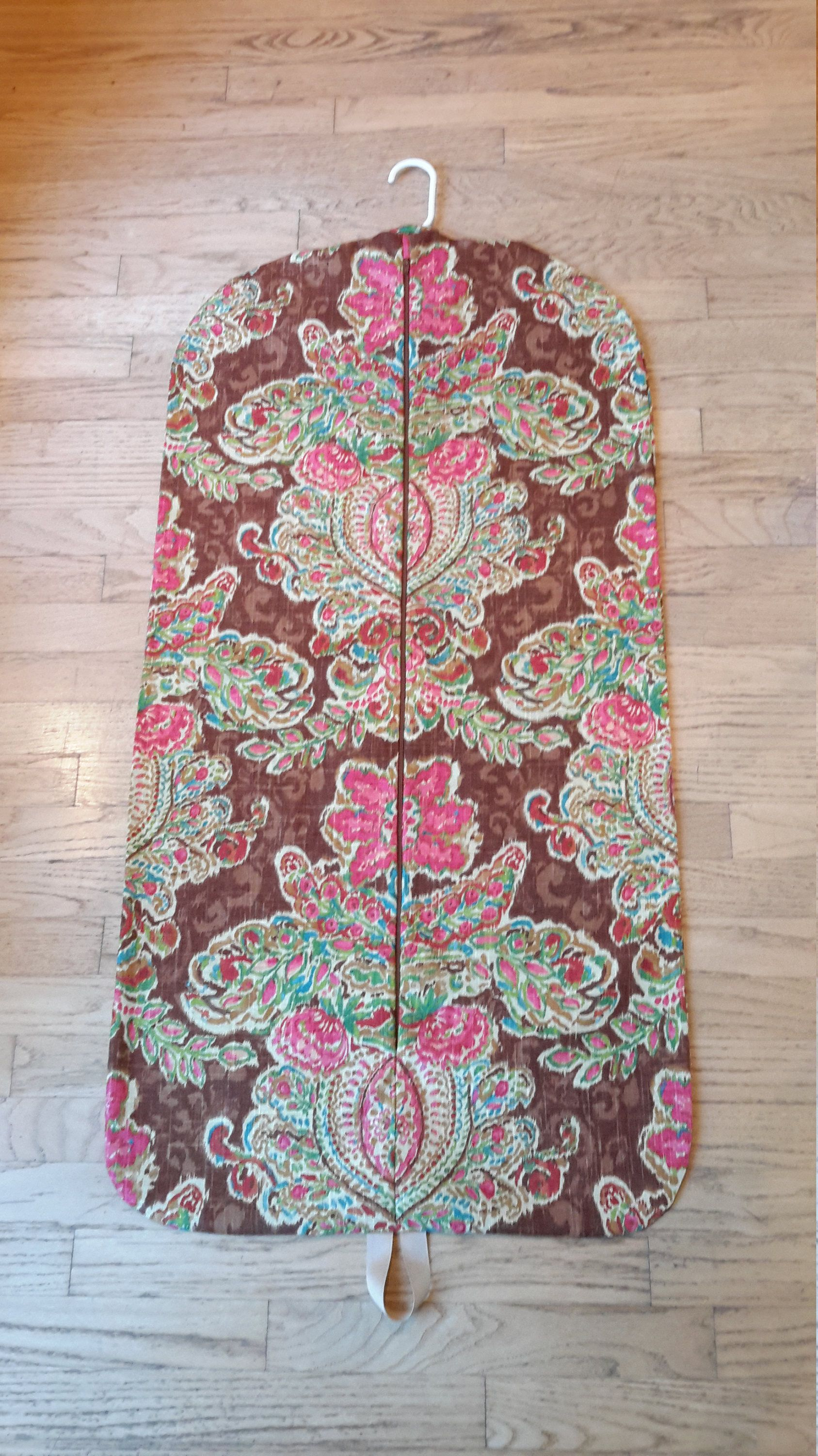 Map Of Paisley%0A Women u    s Brown Paisley Medallion Hanging Garment Bag by CarryItWell on Etsy