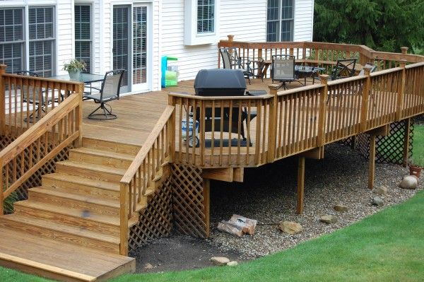 wood deck design ideas 1000 images about decks on pinterest wood decks decks and decking - Wood Deck Design Ideas