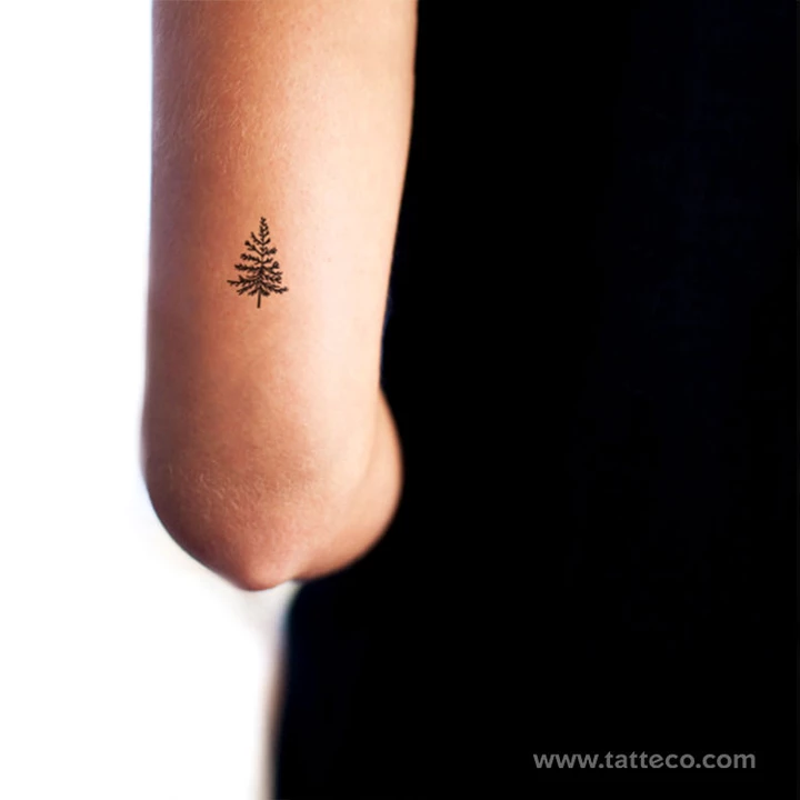 Pine Tree Temporary Tattoo - Set of 3
