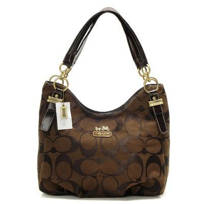 Coach Madison Dotted Op Art Maggie Tote Brown This Site Has Reasonable Prices