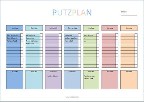 putzplan haushalt vorlage pdf flur ordnung aufbewahrung pinterest putzplan haushalte. Black Bedroom Furniture Sets. Home Design Ideas