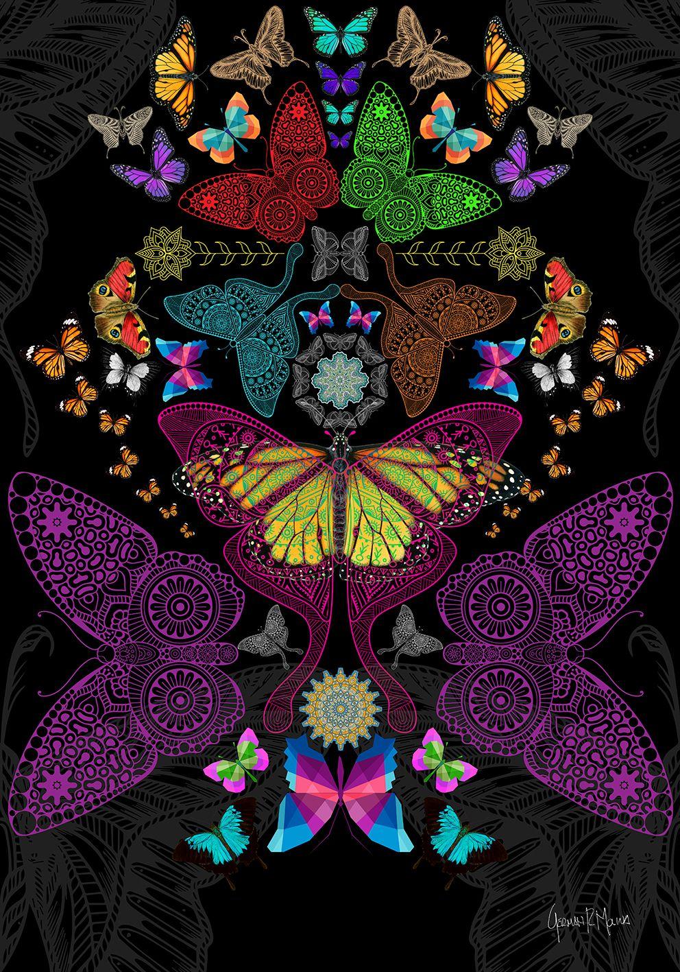 Cosmic Butterfly 2 - Arte digital German Molina - Serie Jardín ...
