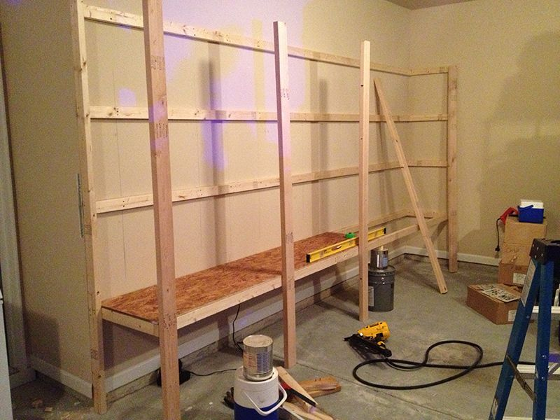Garage Cabinet Design Plans How To Build Sturdy Garage Shelves « Home Improvement Stack