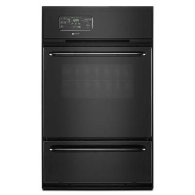 Maytag 24 In Single Gas Wall Oven In Black Cwg3100aab The Home Depot Gas Wall Oven Wall Oven Gas Double Wall Oven
