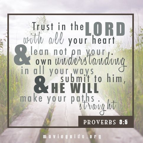 Trust In The LORD With All Your Heart! #WednesdayWisdom