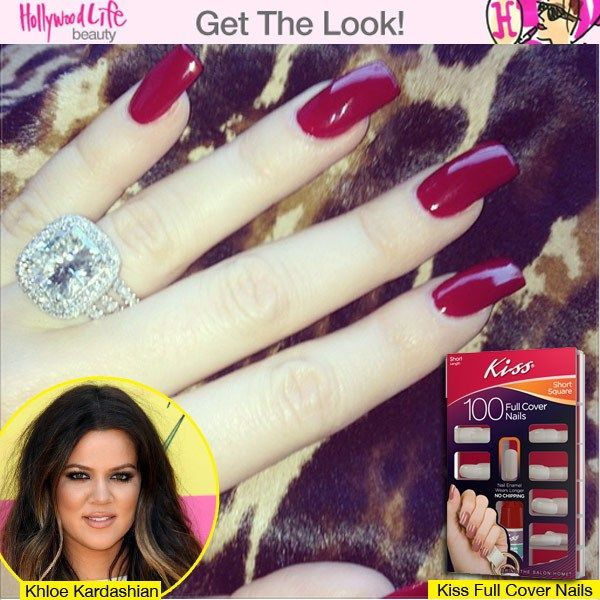Mani Monday: Khloe Kardashian\'s Long Red Nails | Pinterest | Long ...
