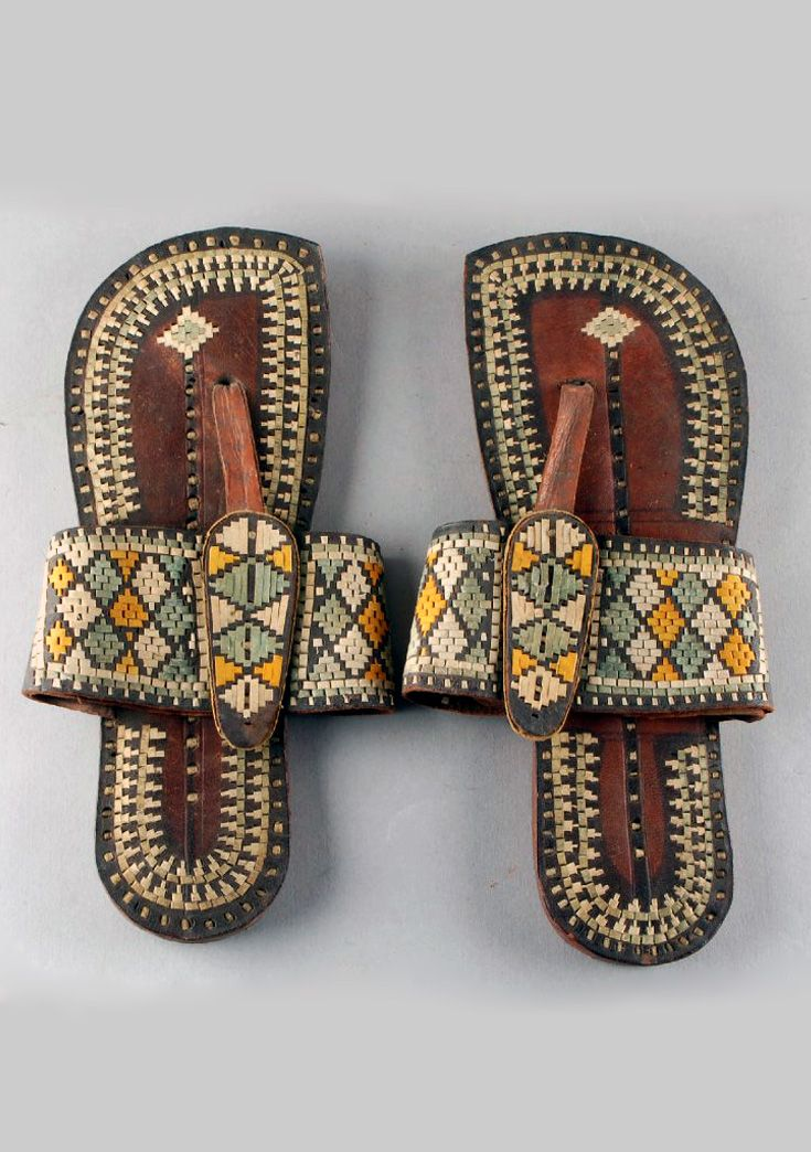 7e7975fe17fdc Africa | Pair of man's sandals from Berbera, Somalia | Leather | ca ...
