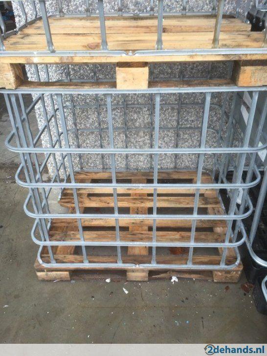 Verwonderend Metalen Ibc kooi of container op houten pallet | lichtplan SUV in MV-62