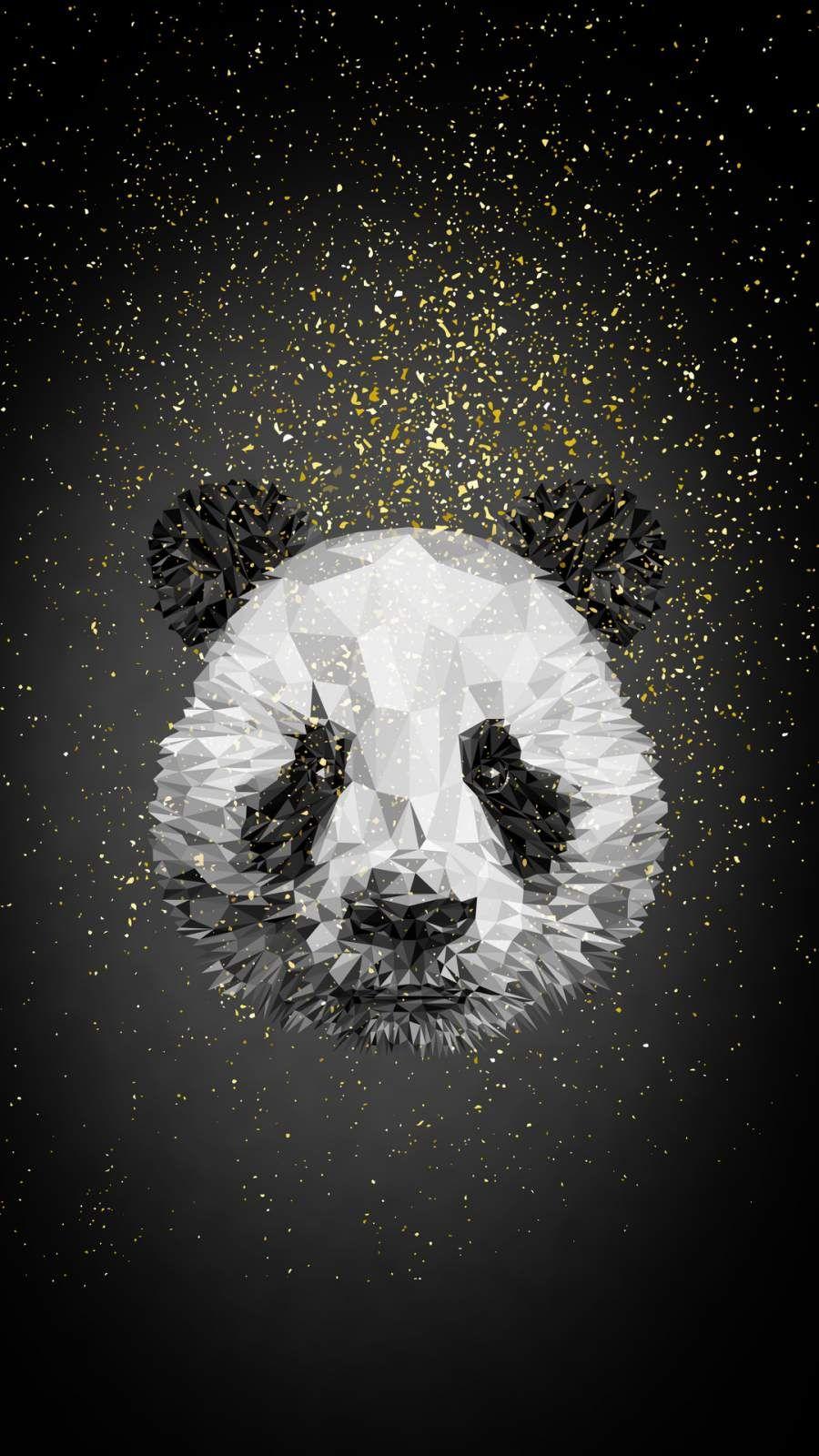 Panda Low Poly iPhone Wallpaper Panda wallpaper iphone