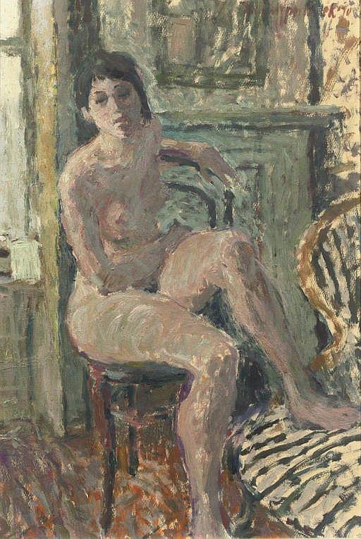 Theo Kurpershoek - Naakt - Nude; 1970; oil on paper; (52 X 35.5 cm)