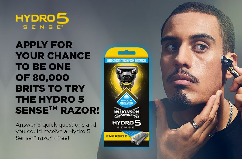 Yes Mate I Ve Just Got A Free Wilkinson Sword Hydro 5 Sense Razor And You Could Too Apply For Your Chance To Try The New Hydro 5 Sense Wilkinson Sword